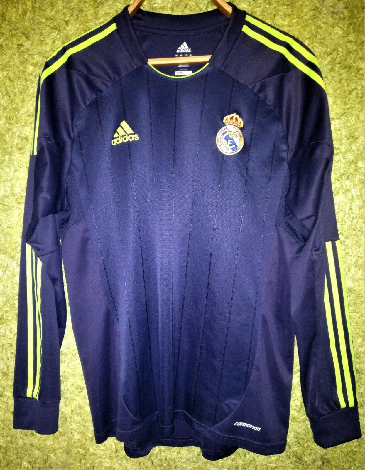 REAL MADRID SPAIN 2012-2013 AWAY PLAYER ISSUE FOOTBALL SHIRT JERSEY LONG SLEEVE