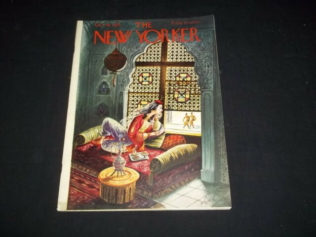 1943 OCTOBER 30 NEW YORKER MAGAZINE - BEAUTIFUL FRONT COVER FOR FRAMING - F 2660