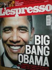 L'Espresso.Barack Obama,Stephane Lissner,Roman Polanski,Altan,Marianne Faithfull