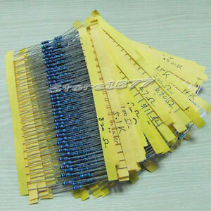 1000pcs Metal Film Resistor 1/4w 1%  Assorted Kit 50 Values szsp04