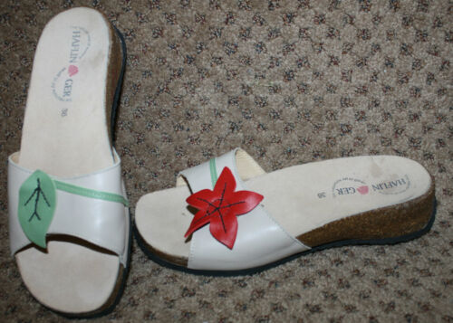 HAFLINGER Flower Leaf Twins Sandals Shoes 38