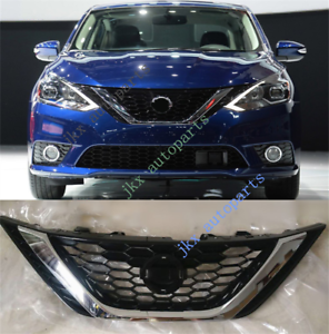 Details About Abs Front Per Middle Hood Grille Grill Fit For Nissan Sentra 2016 2018