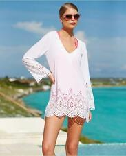 NWT Kenneth Cole Reaction Laser Cut Tunic Cover up Dress Swimsuit Large ma15
