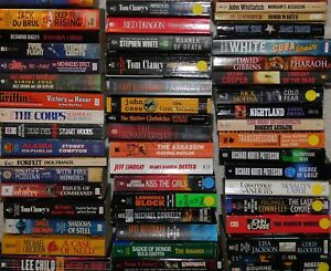 Lot-of-25-Suspense-Thriller-Mystery-Fiction-Paperbacks-Popular-Authors-UNSORTED