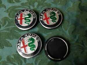 Loghi-ruota-Tappetti-coprimozzo-Colorati-my2017-50mm-Alfa-Romeo-MiTo-147-GT