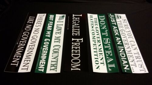 5 Pack Standard Size ANTI-GOVERNMENT //POLITICS Theme Bumper Stickers VINYL DECAL