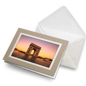 Greetings-Card-Biege-Arc-de-Triomphe-Paris-France-3049