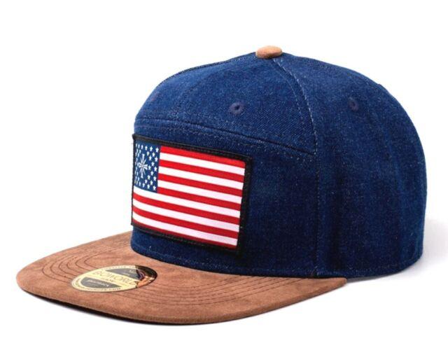 Hat Far Cry 5 American Flag Blue Denim Snapback Cap Hat Bioworld For Sale Online