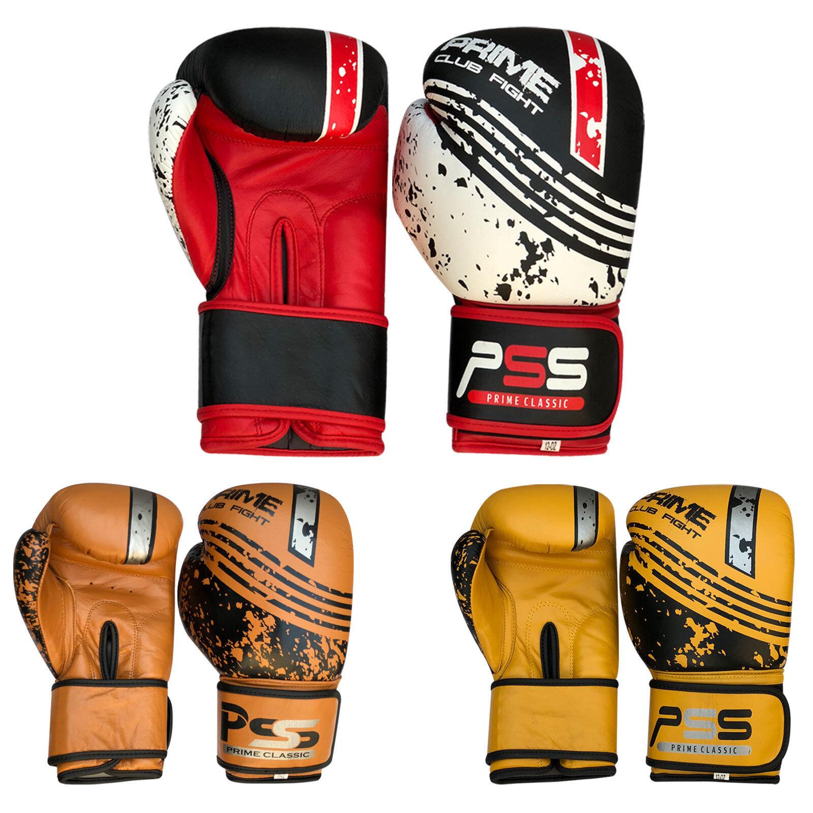 cuir Gants de boxe MMA Muay COMBAT COUP COUP COUP PIED Frappe d'entraînement 1051-1053 284627