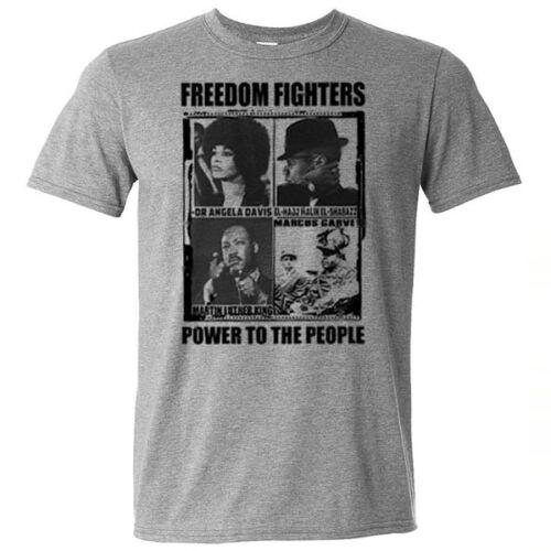 Huey P Newton Black History Month T-Shirt Angela Davis Malcolm X Garvey