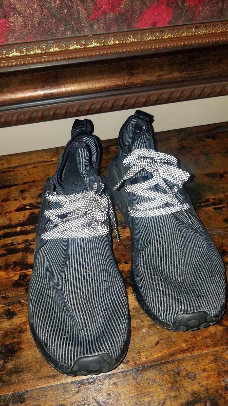 Adidas NMB Triple Black R2 Size 12 Mens  65 plus shipping preowned