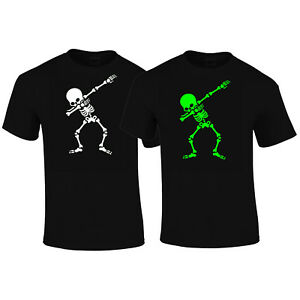 image is loading dabbing skeleton dab t shirt halloween dark in