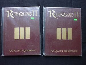 Lot 2 RuneQuest III Arms And Equipment Hardcover Books Guides MGP 8177