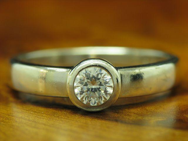925 Sterling silver Ring mit Zirkonia Solitär Besatz   Echtsilver   RG 54   2,4g