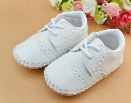 NEW Baby Boy PU LEATHER Formal Shoes 0-18m Size 1//4//5 *Navy Blue*Black