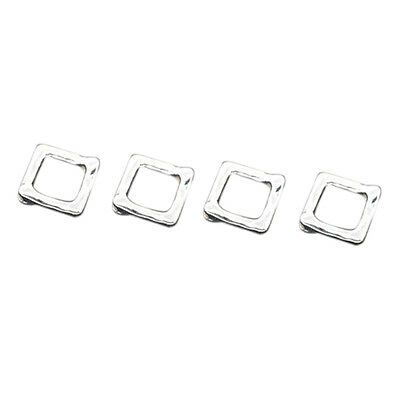 50 Silver Square Bead Frames 12x12mm Findings A3X9