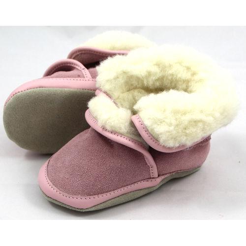 Cosy Wool rosa ROBEEZ Hausschuhe Hüttenschuhe Baby Mädchen
