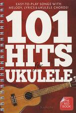 101 hits para Ukelele el libro rojo acordes & melodía Cancionero