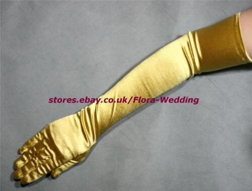 "Satin Extra Long Bridal Wedding//Fancy//Prom Theatre Show Fingered Glove,22/""L"