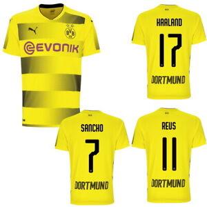 Dettagli su PUMA Bvb Borussia Dortmund Casa Maglia-Home 2017/2018 Giallo Reus Halland Da