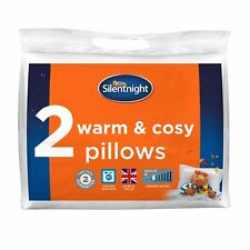 Silentnight Warm And Cosy Pillow Pillows 2 Pack Set of 2