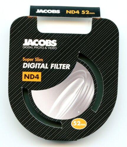 Jacobs 52mm ND4 super slim densidad neutra filtro de cámara de vidrio de alta calidad-Reino Unido