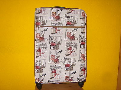 Großer Gobelin Koffer Reisetasche Westi West Highland Terrier Hunde NEU Top