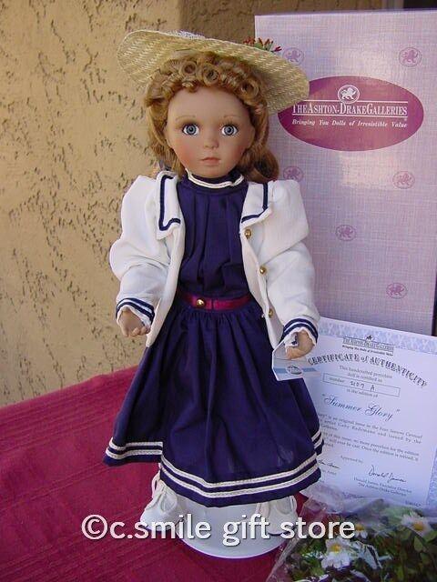 Ashton Drake Porcelain Doll *SUMMER GLORY* Ltd Ed MIB w/COA Ret RARE!!