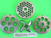 Combo Set. 4 Grinding Plates Discs For Rival Model 2300 Meat Grinder Chopper