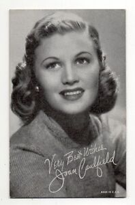 Joan Caufield 1940s 1950s Actress Film Star Salutations Exhibit