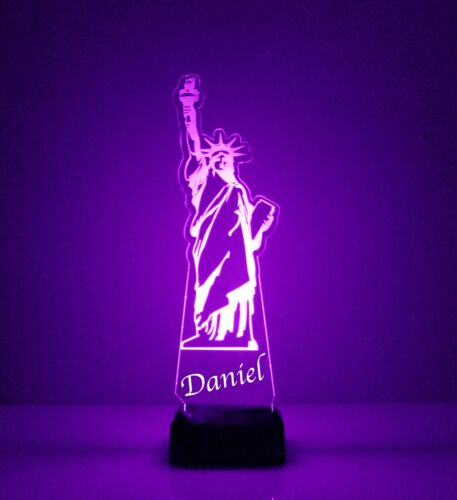 Personalized FREE Night Light Table Light Statue of Liberty Night Lamp LED