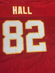 wholesale dealer 4caca f67c7 Details about DANTE HALL #82 KANSAS CITY CHIEFS REPLICA REEBOK NFL RED  JERSEY FREE SHIPPING