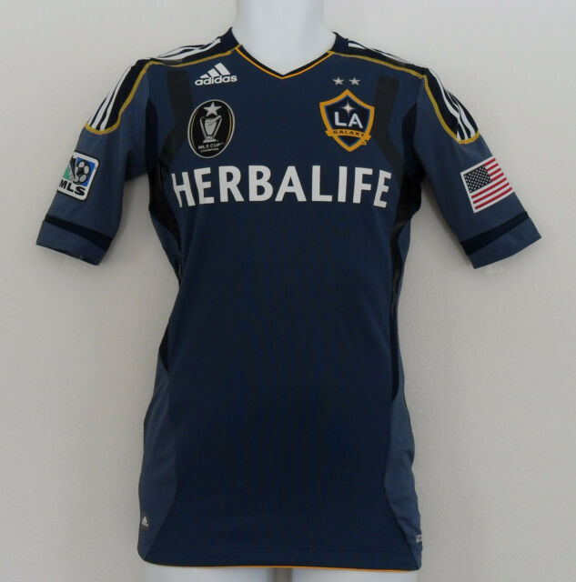 a1b1dcf4a Adidas LA GALAXY TECHFIT AUTHENTIC Soccer Jersey MLS CUP CHAMPION Shirt~Men  sz 8