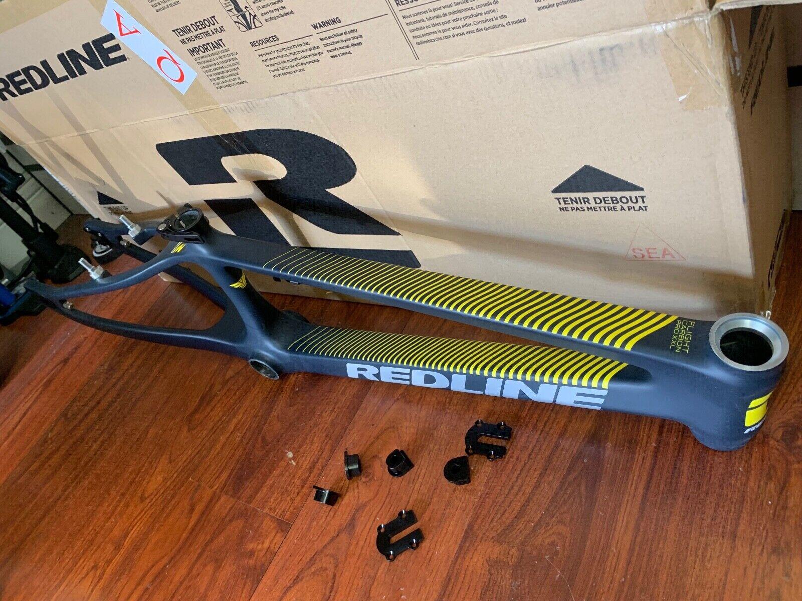 rojoLINE bicicletas FLIGHT Carbono Pro XXL cuadro de BMX Negro 21.7 Bicicletas RACE 2019 21.7