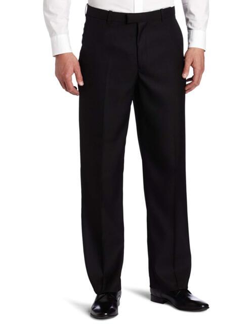 Perry Ellis Mens Classic Fit Flat Front Linen Pant