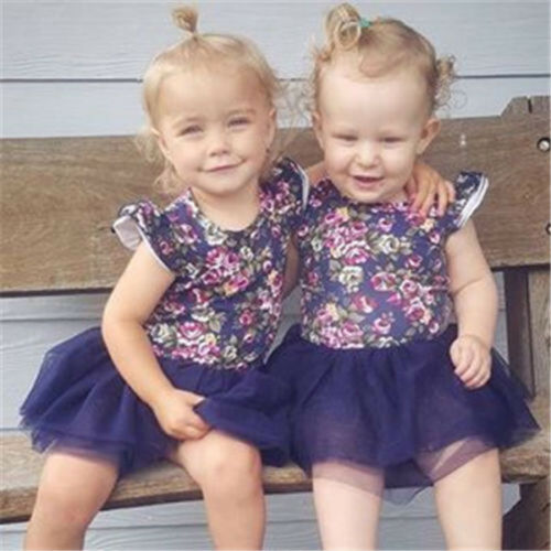 Flower Kids Girls Dress Baby Toddler Lace Princess Party Birthday Wedding Dress