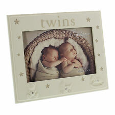 "Bambino ""Twins"" Photo Frame – with icons & diamantes"