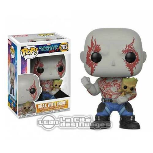 Guardians of the Galaxy Vol 2 POP Movies Drax /& Groot Figure 10cm n°262 FUNKO
