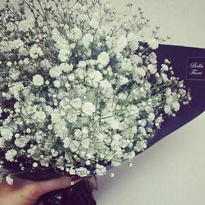 White fake silk artificial gypsophila flowers bouquet wedding party image is loading white fake silk artificial gypsophila flowers bouquet wedding mightylinksfo