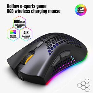 D2 2.4GHz RGB senza Fili Mouse da Giochi Ricaricabile Leggero Cavo PC Topi