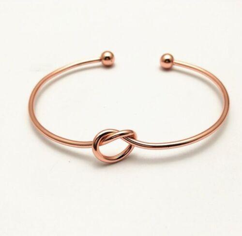 Nodo de amistad pulsera Knot Rose Infinity brazalete pulsera