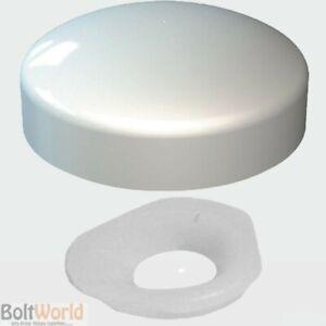Blanc, Deux Pièces Brillant Dôme Vis Snap On Caps Covers Plasticome Unicaps Plastique-afficher Le Titre D'origine RéTréCissable