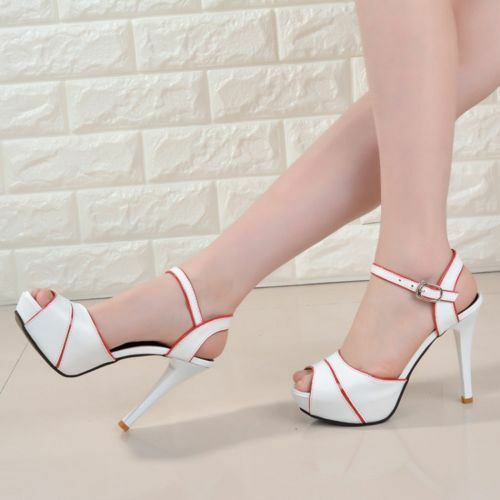 New Womens Platform Stiletto High Heels Belt Buckle Peep Toe shoes Sandals Sexy