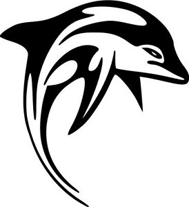 Tribal-Dolphin-Vinyl-Sticker-Decal-Choose-Size-amp-Color