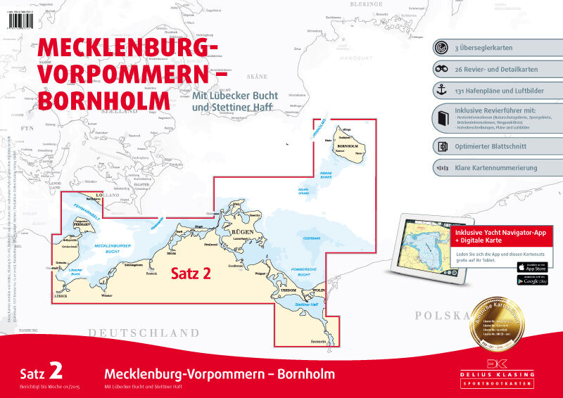SportStiefelkarten Klasing Ostsee - Seekarten Ostsee - Delius Klasing SportStiefelkarten Ausgabe 2018 neu c57653