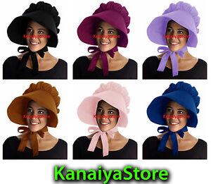 cdf7df6fc74 cotton Adult Baby Bonnet Hat Cap Sissy Pioneer Cute Maid Victorian ...
