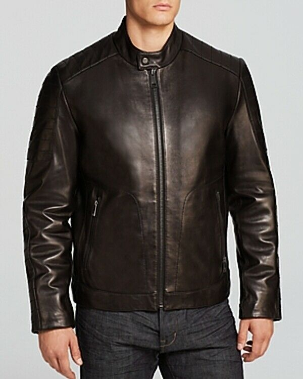 Marc New York Men's Sander Quilted Leather Moto Size XLarge
