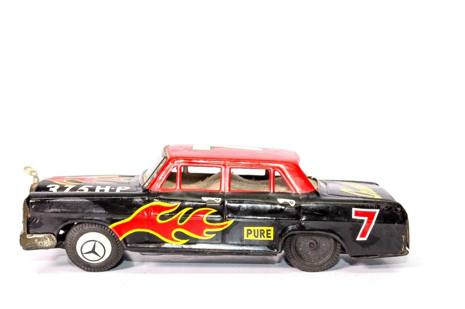 Vintage Giapponese Scatola di Latta Friction Mercedes Benz 250SE Hot Rod