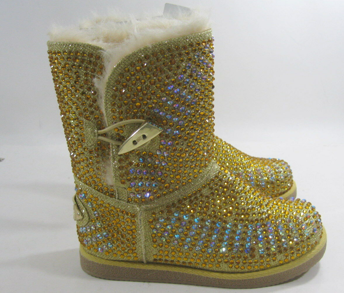 Urban Glitter Gold Rhinestones Winter Ankle Sexy Boot Größe 6.5