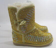 new Urban Glitter  Gold  Rhinestones  winter ankle  sexy boots .Size  11